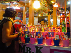 Somebody buying a bucket of alcohol in Thailand