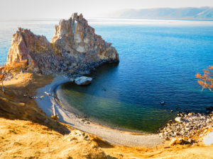 Olkhon Island in Lake Baikal, the deepest lak on earth and one of the curiosities about Russia