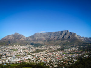 Overview of Cape Town in South Africa