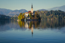 The beauty of Bled Lake in Slovenia