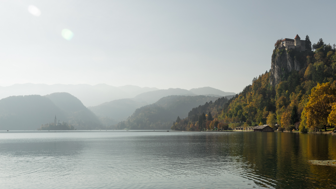 A medieval castle by lake Bled, one of the things you have to do in Slovenia