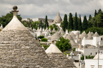 Many roofs of trullis in Alberobello