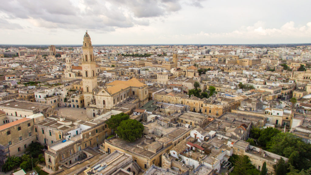 aerial shot of Lecce