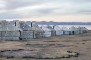 Yurt camp by the Kong Sul Lake