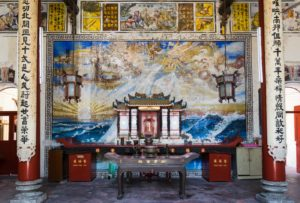 Inside a Chinese Buddhist Temple