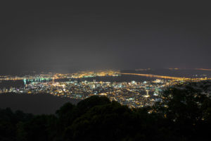 Georgetown seen from Penang Hill at night