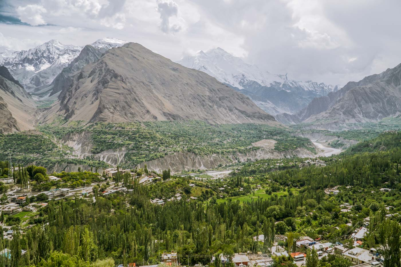overview of the Hunza Valley