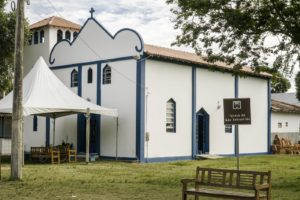 the church in white and blue of Itaunas