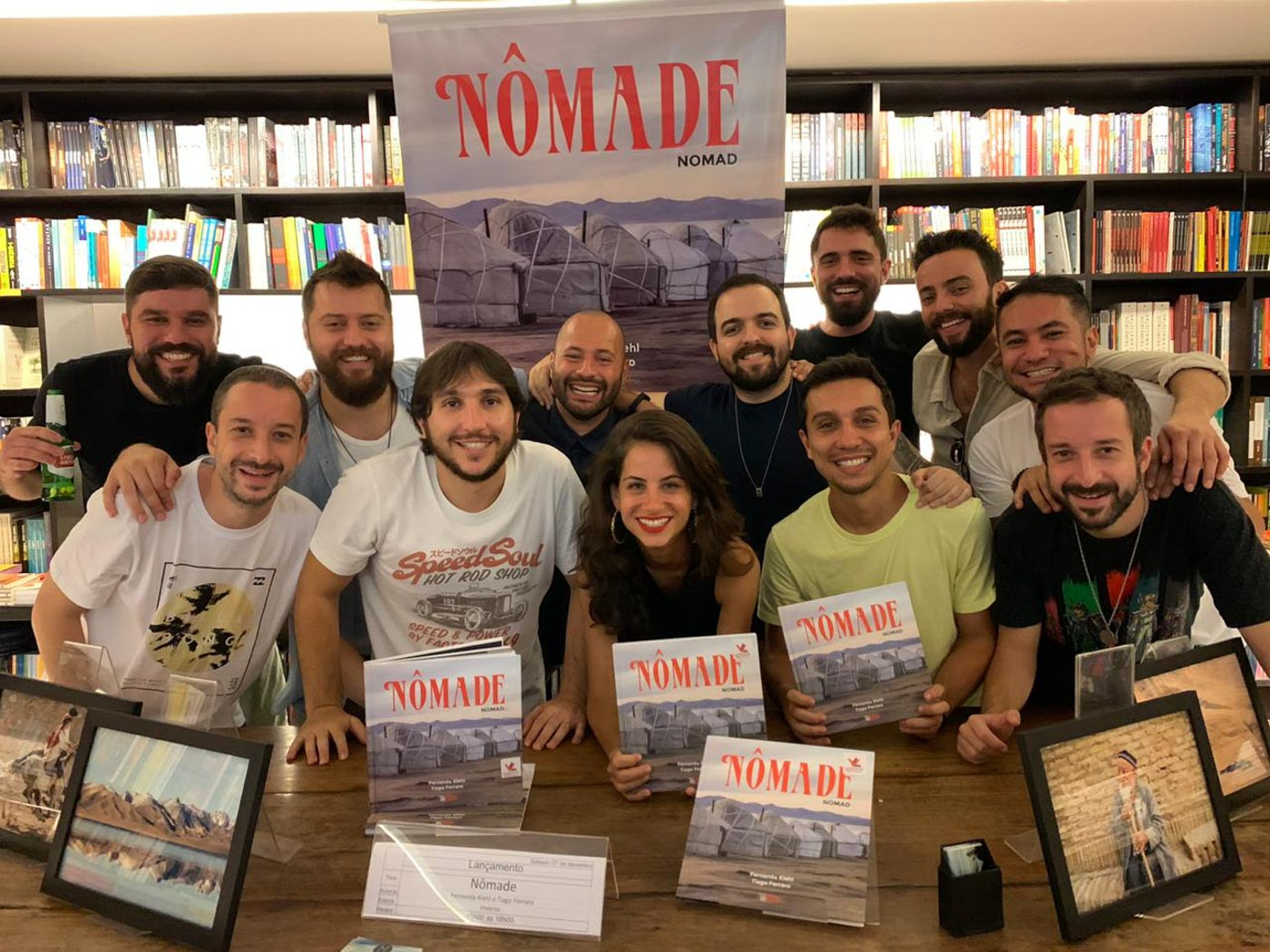 People in a library for launching of the book Nomad from Monday Feelings
