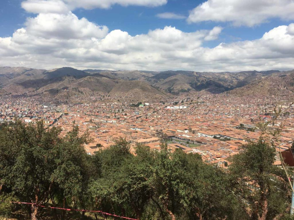 Cusco from a viewpoint