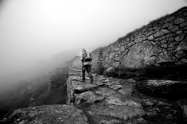 Man trekking the Salkantay Trek to Machu Picchu