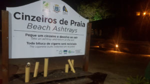 Ilhabela at night by the beach