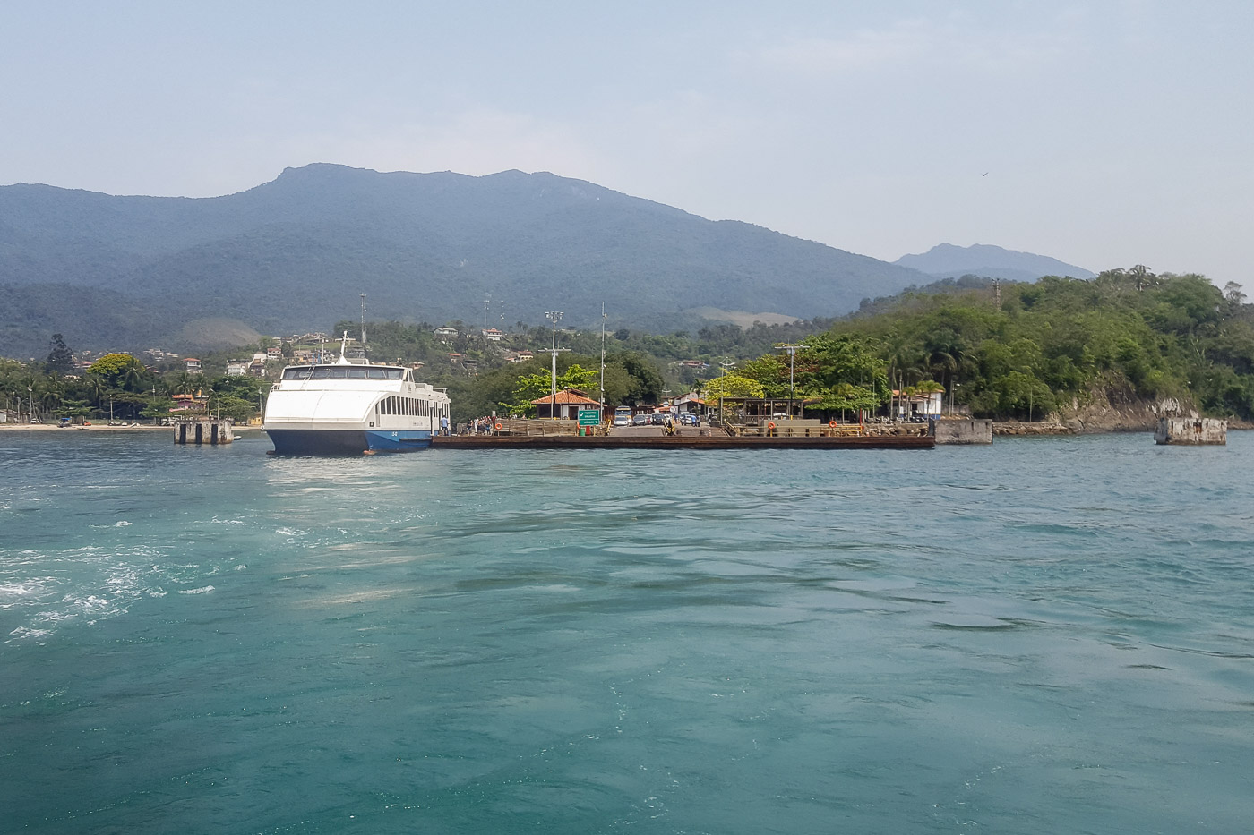View of the ferry boat between Sao Sebastiao and Ilhabela